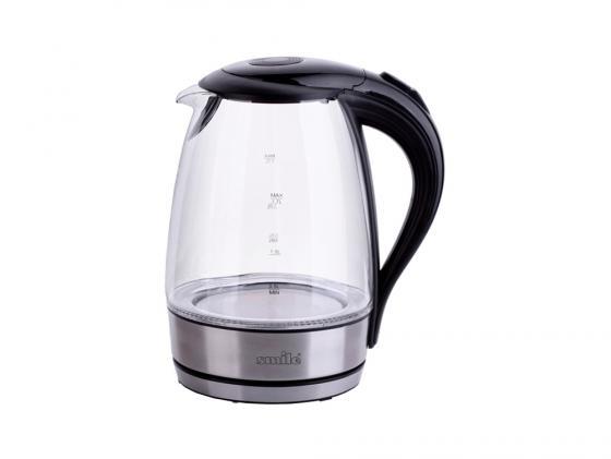 Чайник Smile WK 5128 — — металл/стекло чёрный чайник электрический smile wk 5131