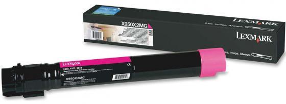 Картридж Lexmark X950X2MG для X95x пурпурный 22000стр картридж lexmark 70c8hke для lexmark cs510 cs410 cs310 черный 4000стр