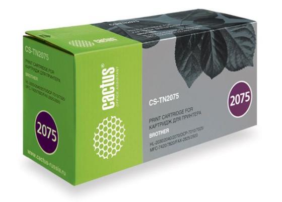 Картридж Cactus CS-TN2075 для Brother HL-2030R 2040R 2070NR 2500стр картридж cactus tn 2075 cs tn2075
