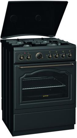 Комбинированная плита Gorenje K67CLB черный