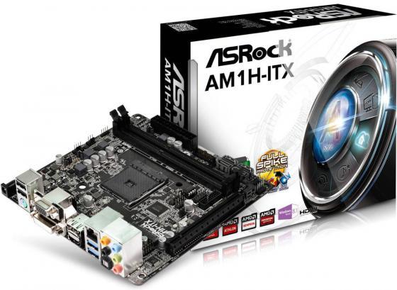 все цены на  Материнская плата ASRock AM1H-ITX Socket AM1 AMD 2xDDR3 1xPCI-E 16x 2хSATAII 2xSATAIII mITX Retail  онлайн