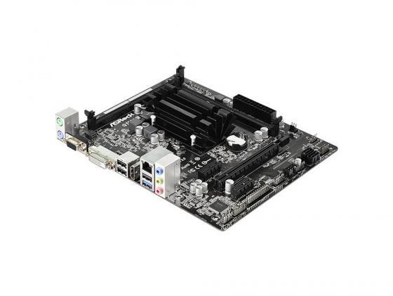 Материнская плата ASRock Q1900M Intel Celeron J1900 2xDDR3 1xPCI-E 16x 2xPCI-E 1x 2xSATAII Realtek ALC662 5.1 Sound Glan microATX Retail цена и фото
