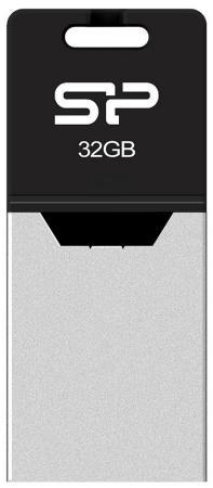 Флешка USB 32Gb Silicon Power Mobile Х20 SP032GBUF2X20V1K серебристый usb флешка silicon power mobile x20 32gb black sp032gbuf2x20v1k usb 2 0 microusb