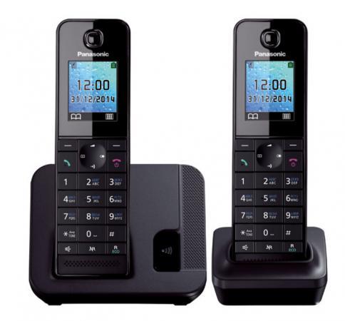 Радиотелефон DECT Panasonic KX-TGH212RUB дополнительная трубка KX-TGHA20 черный радиотелефон