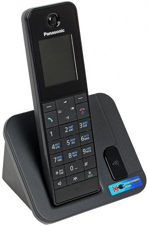 Радиотелефон DECT Panasonic KX-TGH210RUB черный серьги green wood green wood mp002xw19d8d