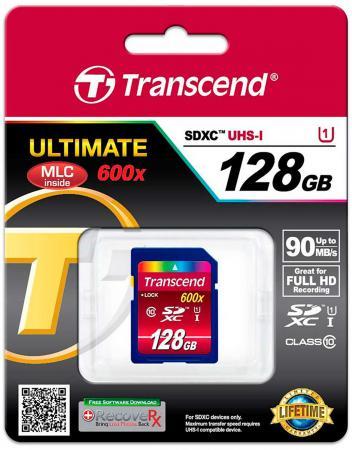 Карта памяти SDXC 128GB Class 10 Transcend TS128GSDXC10U1 карта памяти sdxc 128gb class 10 transcend ts128gsdxc10