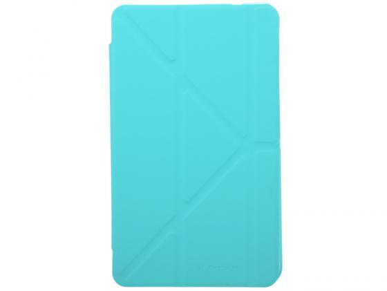 """Чехол IT BAGGAGE для планшета SAMSUNG Galaxy Tab4 8"""" Hard case искусственная кожа бирюзовый с тонированной задней стенкой ITSSGT4801-6 все цены"""