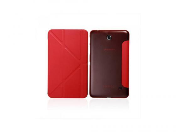 """все цены на  Чехол IT BAGGAGE для планшета Samsung Galaxy Tab4 7"""" Hard case искусственная кожа красный ITSSGT4701-3  онлайн"""