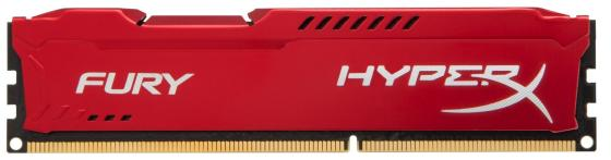 Оперативная память 8Gb PC3-10600 1333MHz DDR3 DIMM CL9 Kingston HX313C9FR/8 HyperX FURY Red Series jzl memoria pc3 10600 ddr3 1333mhz pc3 10600 ddr 3 1333 mhz 8gb lc9 240 pin desktop pc computer dimm memory ram for amd cpu