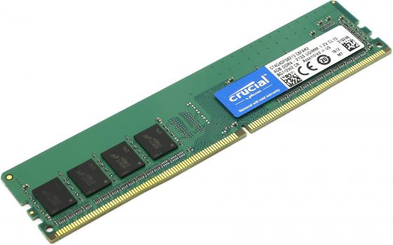 Оперативная память 4Gb PC4-17000 2133MHz DDR4 DIMM Crucial CT4G4DFS8213 288-pin non-ECC new memory 803026 b21 4gb 1x4gb single rank x8 pc4 17000 ddr4 2133 registered cas 15 ecc one year warranty