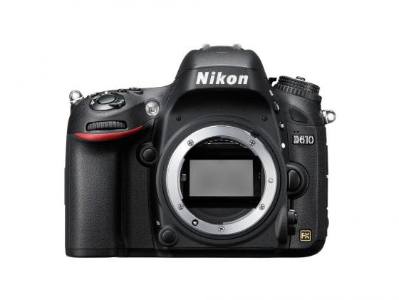 Зеркальная фотокамера Nikon D610 Body 24.3Mp черный VBA430AE купить nikon d80 body петербург