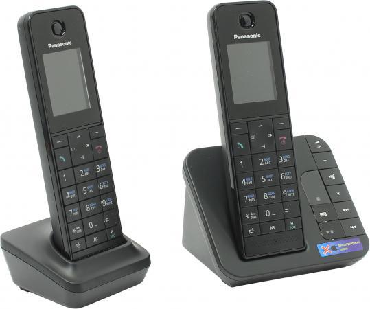 Фото Радиотелефон DECT Panasonic KX-TGH222RUB черный радиотелефон dect panasonic kx tgj320rub черный