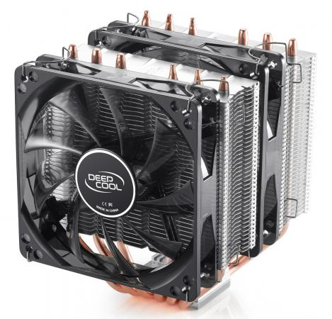 все цены на Кулер для процессора Deepcool NEPTWIN V2 Socket AMD/1150/1155/1156/2011/ 4pin 26-31dB Al+Cu 150W 1109g винты LED Blue Retail DP-MCH6-NT