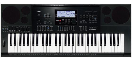 Синтезатор Casio CTK-7200 61 клавиша USB AUX SD черный