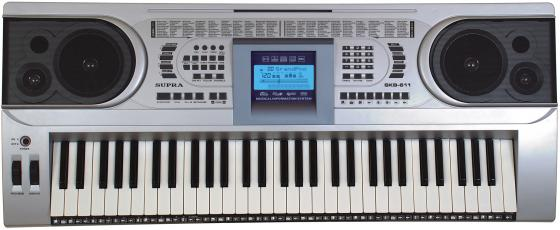 все цены на Синтезатор Supra SKB-611 61 клавиша серебристый