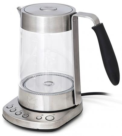 Чайник KITFORT КТ-601N 1200 Вт 1 л металл/стекло серебристый чайник galaxy gl0317 1200 вт 1 2 л металл серебристый
