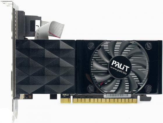 Видеокарта 1024Mb Palit GeForce GT730 PCI-E DDR3 64bit DVI HDMI OEM видеокарта asus geforce gtx 1060 1620mhz pci e 3 0 6144mb 8208mhz 192 bit dvi hdmi hdcp rog strix gtx1060 o6g gaming