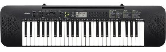 Синтезатор Casio CTK-240 49 клавиш черный