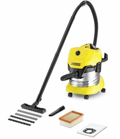 цена на Пылесос Karcher WD 4 Premium 1.348-150.0 сухая уборка жёлтый