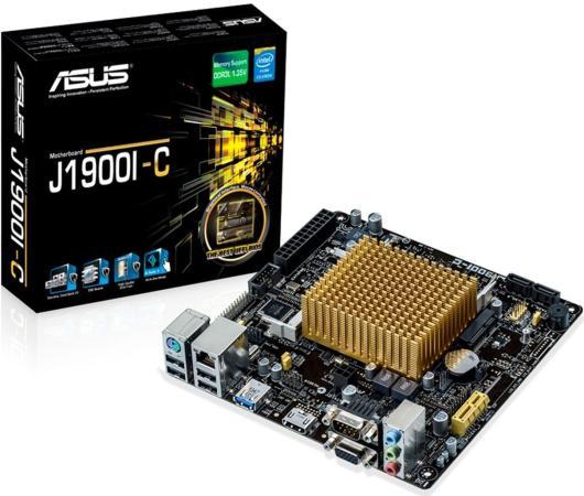 Материнская плата ASUS J1900I-C с процессором Intel J1900 2xSO-DIMM DDR3 1xPCI-E 1x 2xSATA II mini-ITX Retail 90MB0JH0-M0EAY0 цена и фото