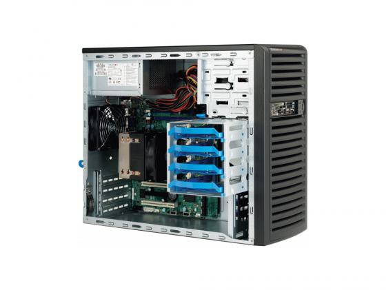 Серверный корпус microATX Supermicro CSE-731D-300B 300 Вт чёрный корпус серверный