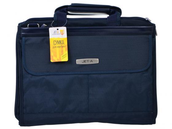 """где купить Сумка для ноутбука 15.6"""" Jet.A LB15-51 полиэстер темно-синий по лучшей цене"""