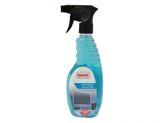 Чистящее средство Buro BU-Tv_Lcd500 для чистки экранов телевизоров спрей-триггер 500мл чистящий набор buro bu s mf для экранов и оптики блистер микрофибра спрей 100мл