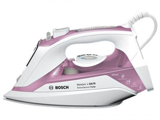 лучшая цена Утюг Bosch TDA702821I 2800Вт подача пара 50 г/мин пар.удар 200 г/мин розово-белый