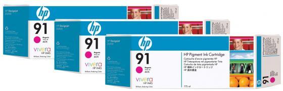 Картридж HP C9484A для DJ Z6100 пурпурный 3шт
