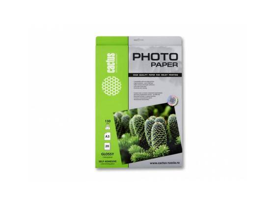 Бумага Cactus CS-GSA313020 А3 130г/кв.м глянцевая 20л набор bosch ножовка gsa 18v 32 0 601 6a8 102 адаптер gaa 18v 24