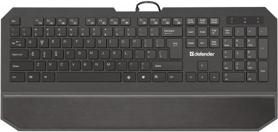 Клавиатура проводная DEFENDER Oscar SM-600 Pro USB черный 45602 defender oscar sm 600 ru black 45602
