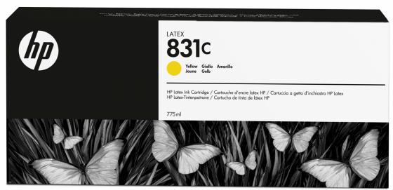 Фото - Картридж HP CZ697A №831C желтый 775мл 14 дюймовый тонкий и легкий ноутбук hp pavilion 14 bf108tx только i5 8250u 4g 256gssd 940mx 2g fhd ips silver