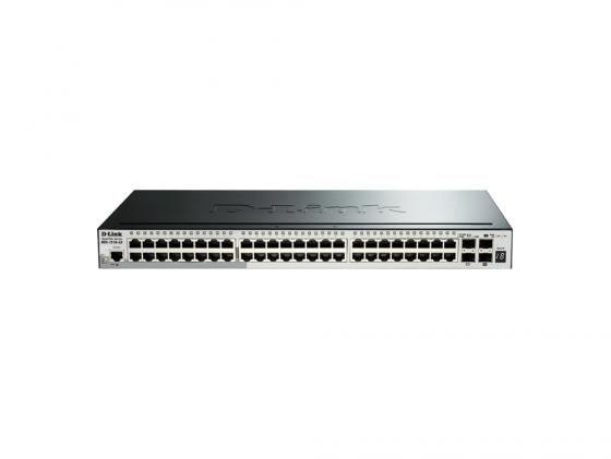 Коммутатор D-LINK DGS-1510-52/A1A управляемый 48 портов 10/100/1000Mbps 2xSFP 2xSFP+