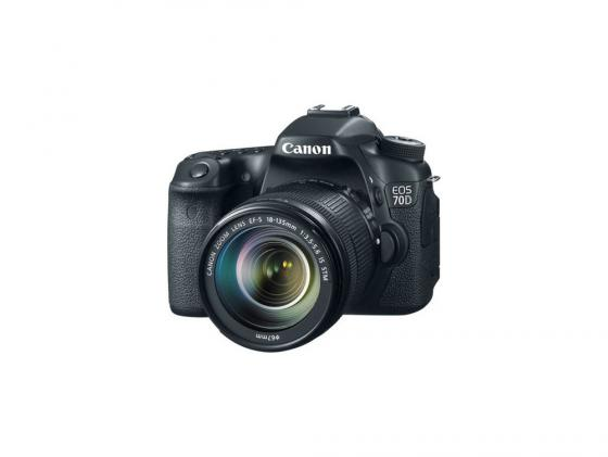 Зеркальная фотокамера Canon EOS 70D Kit 18-135 IS STM 20Mp черный 8469B018 canon eos 700d kit 18 135 is stm