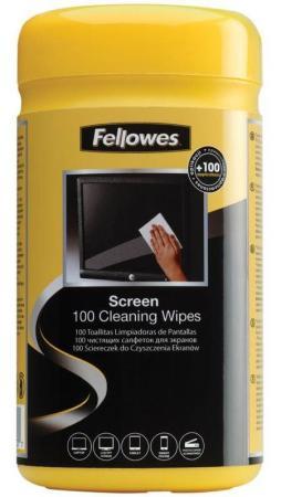 Влажные салфетки Fellowes FS-99703 100 шт влажные салфетки fellowes lamirel la 21617 01 24 шт