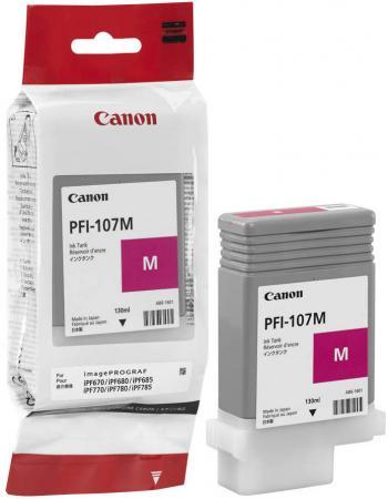 Картридж Canon PFI-107 M для iPF680/685/780/785 130мл пурпурный 6707B001 цена и фото