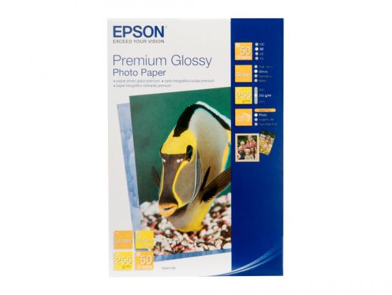 Бумага Epson 10*15 255 г/кв.м Premium Glossy Photo Quality S041729 50л epson фотобумага струйная печатная бумага