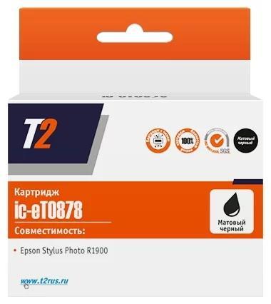Фото - Картридж T2 IC-ET0878 для для Epson St Ph R1900 520стр Матовый черный картридж t2 ic et0482 для для epson st ph r200 r300 430стр голубой