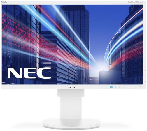 Монитор 24 NEC E243WMi белый серебристый AH-IPS 1920x1080 250 cd/m^2 6 ms DVI DisplayPort VGA Аудио монитор nec e241n bk черный ah ips 1920x1080 250 cd m^2 6 ms hdmi displayport vga аудио
