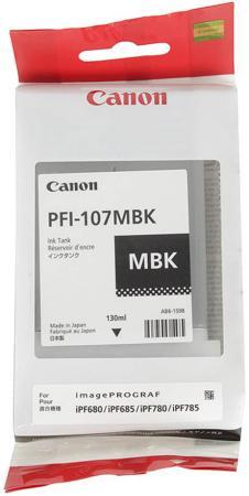 Картридж Canon PFI-107 MBK для iPF680/685/780/785 черный матовый 6704B001 картридж canon pfi 207 mbk для ipf680 685 780 785 матовый черный 8788b001