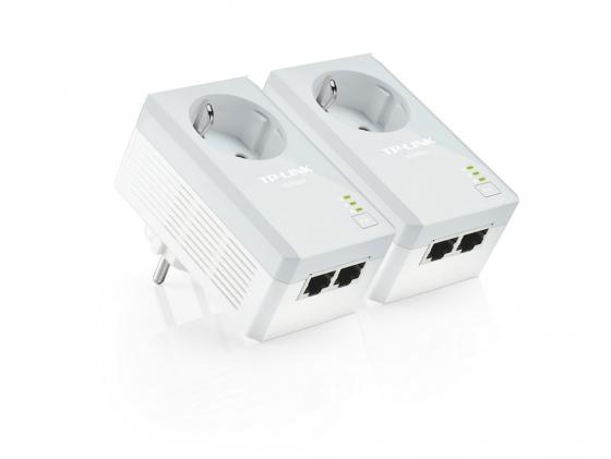 Комплект адаптеров Powerline TP-LINK TL-PA4020PKIT 10/100Mbps 500Mbps powerline адаптер tp link tl pa4020pkit tl pa4020pkit