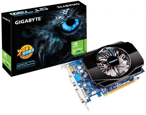 Видеокарта 2048Mb Gigabyte GT730 PCI-E GDDR3 128bit VGA HDMI DVI HDCP GV-N730-2GI Retail видеокарта 2048mb gigabyte gt730 pci e gddr5 64bit vga hdmi dvi hdcp gv n730d5 2gi retail