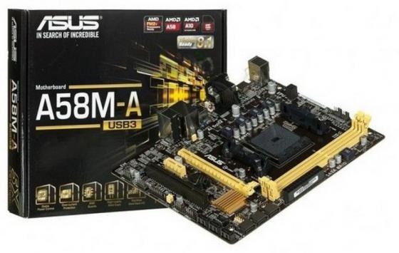 Материнская плата ASUS A58M-A/USB3 Socket FM2+ AMD A58 2xDDR3 1xPCI-E 16x 1xPCI 1xPCI-E 1x 6xSATA II mATX Retail
