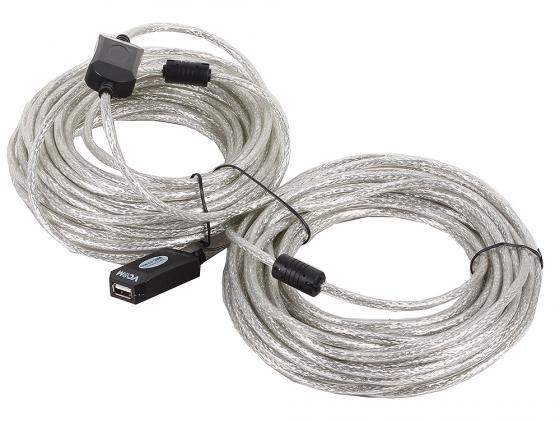 цена на Кабель удлинительный USB 2.0 AM-AF 20м VCOM Telecom активный VUS7049 предотвращающий затухание сигнала