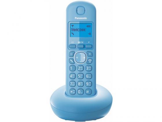 Радиотелефон DECT Panasonic KX-TGB210RUF голубой радиотелефон panasonic kx tg8551 белый kx tg8551ruw