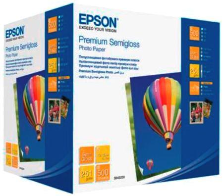 Фотобумага Epson 10x15см 251г/кв.м полуглянцевая 500л C13S042200 цена