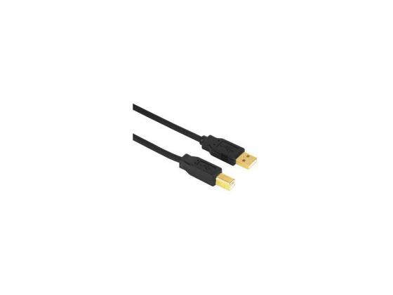 Кабель USB 2.0 AM-BM 3.0м Hama H-29767 позолоченные штекеры черный цена