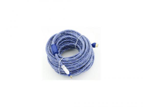 Кабель HDMI 5.0м Gembird Ver.1.4 Blue/white jack ферритовые кольца позолоченные контакты  794317 кабель hdmi 3 0м gembird ver 1 4 blue jack ферритовые кольца позолоченные контакты