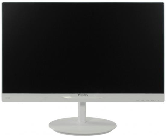 "Монитор 22"" Philips 224E5QSW/01 белый AH-IPS 1920x1080 250 cd/m^2 5 ms DVI VGA все цены"