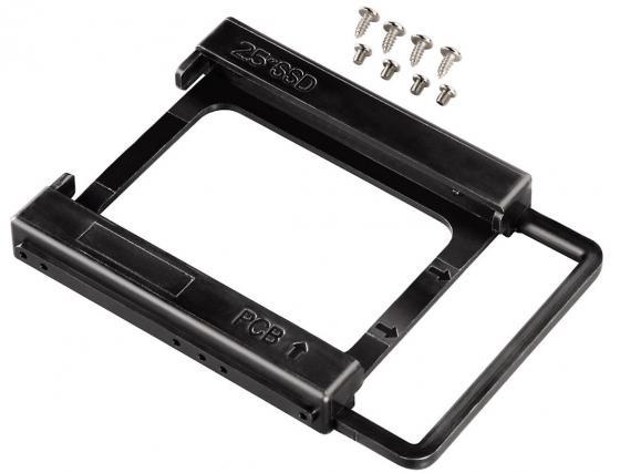 Фото - Переходник для SSD Hama H-39830 2.5 SSD в отсек 3.5 черный переходник